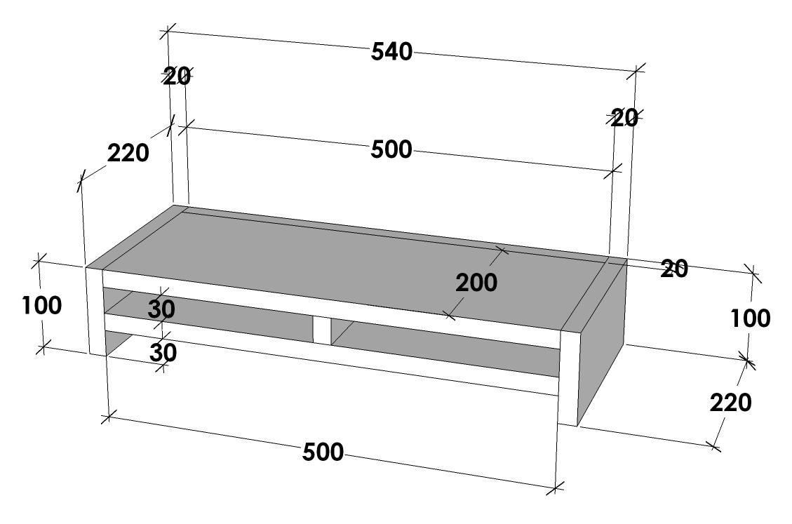 Korean Monitor Rack & Riser or Laptop Stand